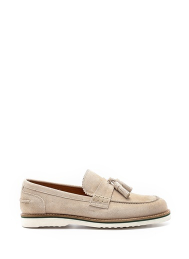 Derimod Hakiki Deri Klasik Ayakkabı Bej